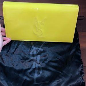 YSL clutch (neon yellow)